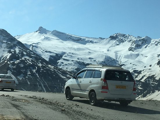 Rohtang P Snow Clad Mountain Of