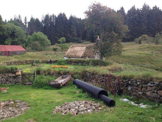 Auchindrain Highland Farm Township: The garden