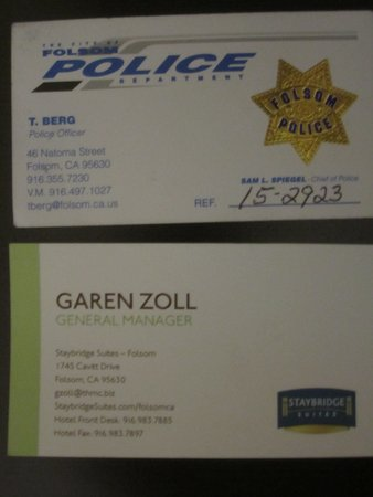 Folsom, CA: Police Report and General Manager