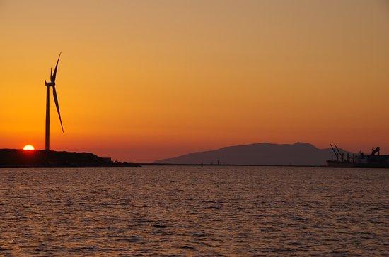 Michi no Eki Akita Port : 夕日がきれいでした。