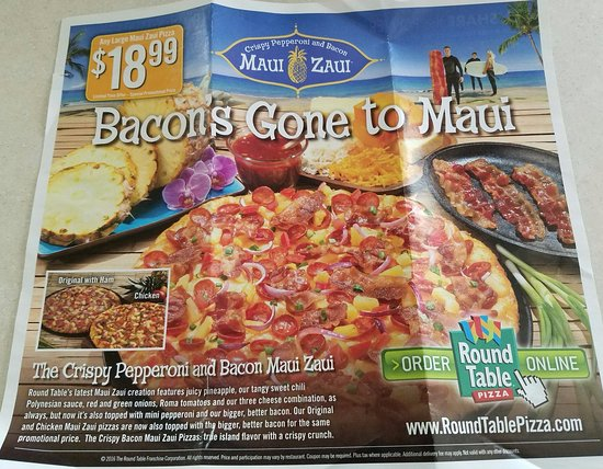 Round Table Pizza : Check your mailbox for monthly specials.