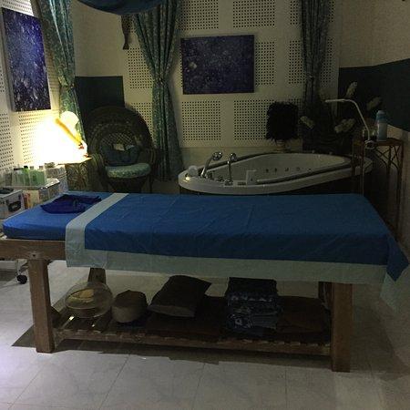 Kerobokan, Indonesia: The blue room