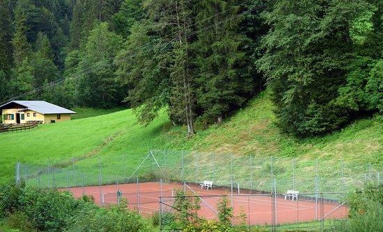Russbach am Pass Gschutt, Österreich: Tennisplatz
