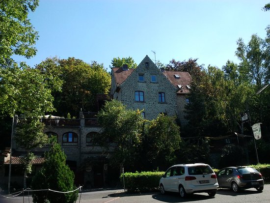 Marktbreit, Duitsland: Drachenburg from street side