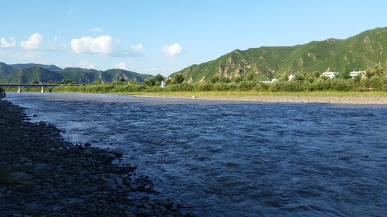 ‪‪Tumen‬, الصين: AT TUMEN LOOKING ACROSS THE TUMEN RIVER INTO NAMYANG IN THE DPRK‬