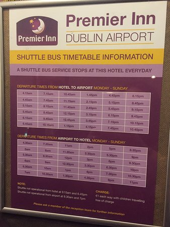 Swords, İrlanda: Shuttle Bus Times