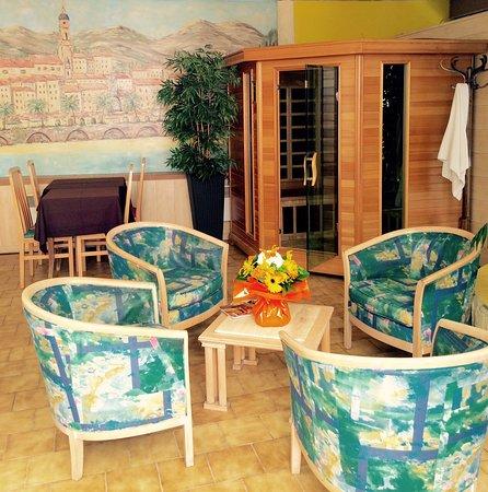 Hotel Menton Riviera: Espace détente avec Sauna