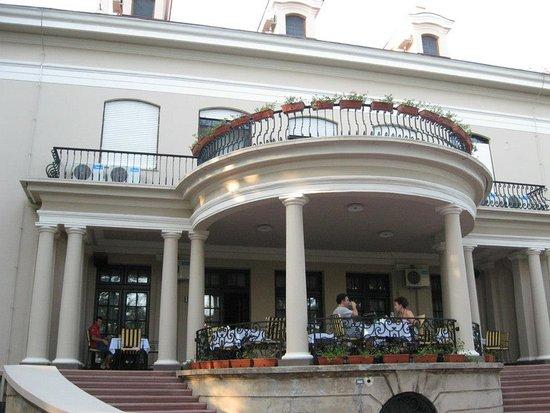 Srpska Crnja, Serbia: dining at the terrace
