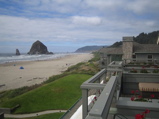 Stephanie Inn: From Balcony views across to Haystack rock