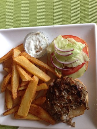 Saint-Brice, Francia: Baah burger with homemade yoghurt dip