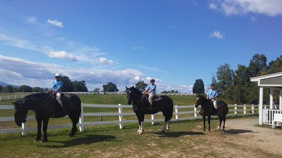 Moultonborough, New Hampshire: heading out on our horses chosen specially for us!