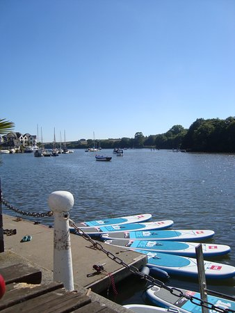 Kingsbridge, UK: view from outside seating
