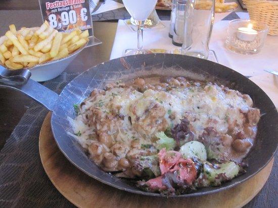 Rheinau, Allemagne : Pfannengericht