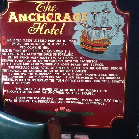 The Anchorage Hotel: Inside entrance to hotel.