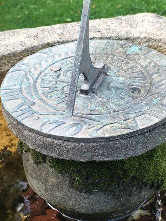Riber Hall: Garden Sundial