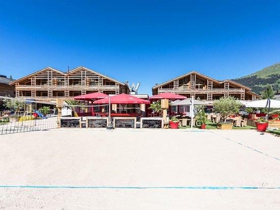 W Verbier : Hotel Beach Volleyball