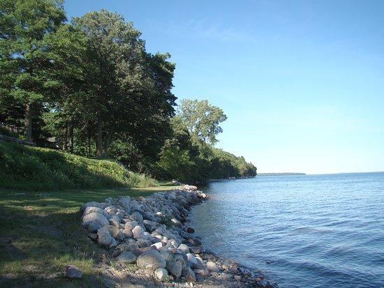 Adventure North Resort: A peaceful morning on Leech Lake