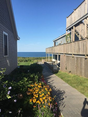The 1661 Inn: Beautiful flowers adorn the grounds