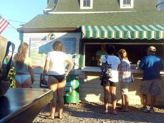Rebecca's Seafood Takeout: Reading the Menu at Rebecca's Takeout on Block Island