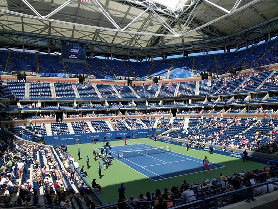 Flushing, NY: Center Court at Arthur Ashe Stadium