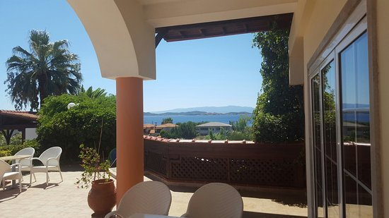 Alexandros Palace Hotel: Gorgeous view from the room and relaxing private beach