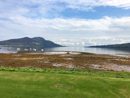 Lamlash, UK: View from room looking across the bay to the Holy Isle