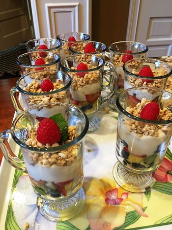 Versailles, KY: We serve fresh fruit every morning as a starter