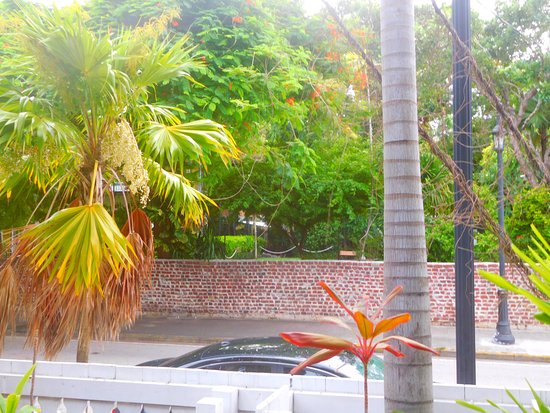 Lighthouse Court Hotel in Key West: From the porch, directly across from Hemingway House.