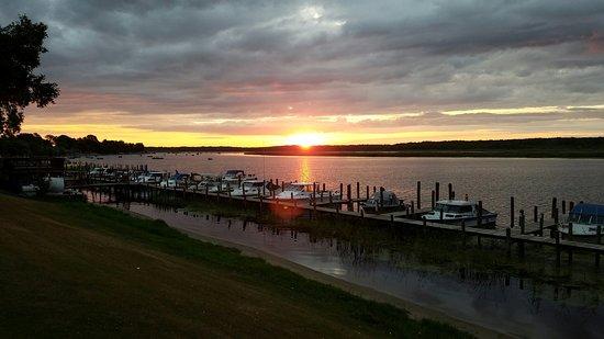 Baudette, MN: Sunset over Canada.