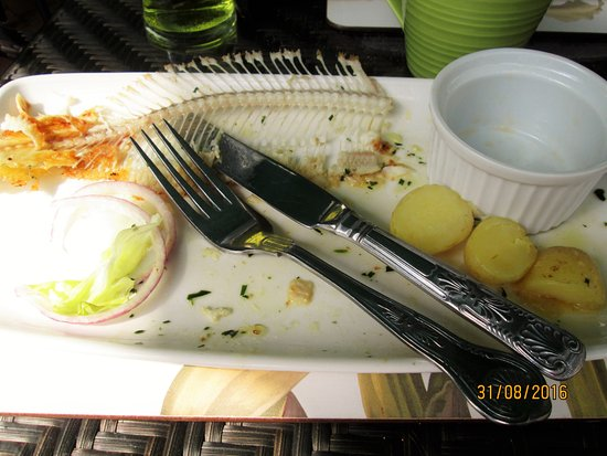 Newick, UK: This was my dover sole! So sorry I couldn't wait to start it, the presentation and smell was so