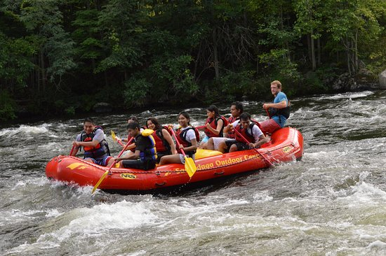 Hadley, Nova York: Sacandaga Outdoor Center White Water Rafting.