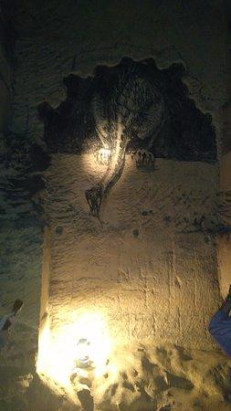 St. Pietersberg Caves: Muur tekening in de grot