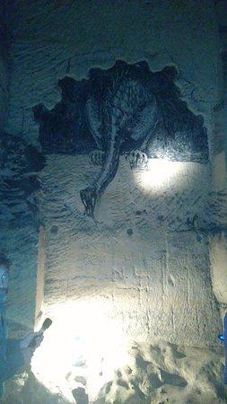 St. Pietersberg Caves: Muurschildering in de grot