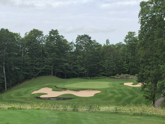 Bellaire, MI: A Par-3 on Legend with major elevation change.