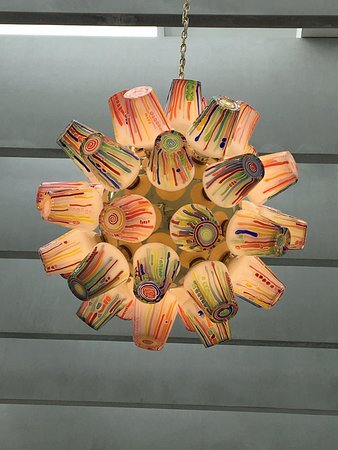 Corning, NY: Beautiful chandelier in the modern art wing