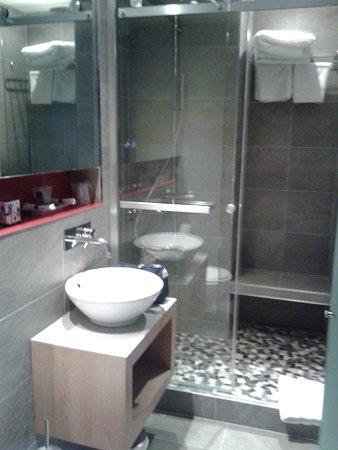 Salle d\'eau avec grande douche italienne - Photo de Hotel Elixir ...