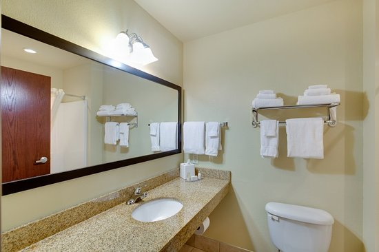 Cobblestone Inn and Suites Clintonville, WI: Basic Room Bathroom Facilities