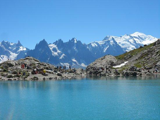 Le Lac Blanc et le panorama sur le Massif du Mont Blanc