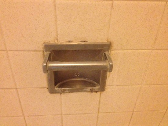 Super 8 Wells: Soap dish in bathroom