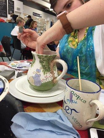 Fun afternoon, painting a jug!