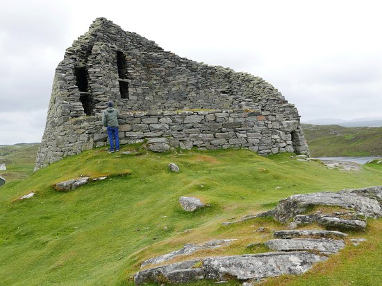 Ancient home with steps to upper level intact