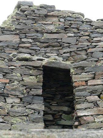 doorway intact, on second level