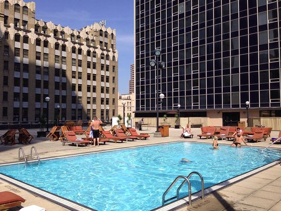 Renaissance Columbus Downtown Hotel Rooftop Pool Hot Tub Not In Picture