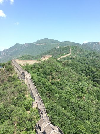 mutianyu great wall arial view