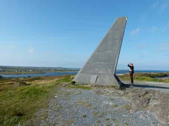 Alcock and Brown Landing Site: Monument fo Alcock and Brown for the first trans-Atlantic crossing