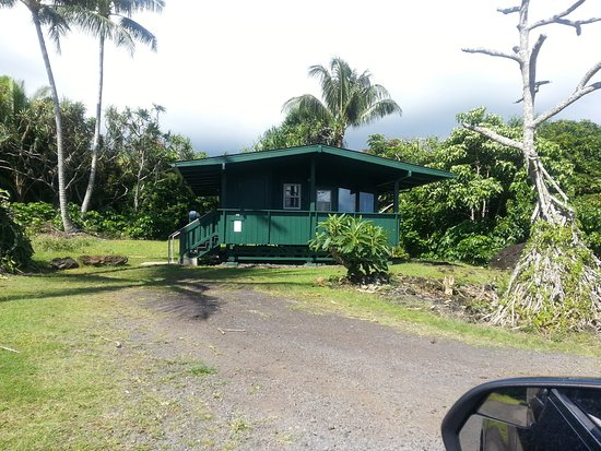 Waianapanapa State Park Cabins: Our hideout for the night