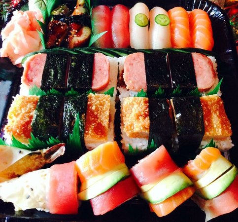 Oahu sushi assortments picture of oahu hawaiian bbq for Aloha asian cuisine sushi