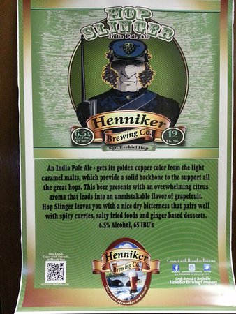 Henniker, NH: Hop Slinger IPA