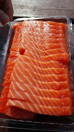 Twizel, นิวซีแลนด์: 新鮮鮭魚肉