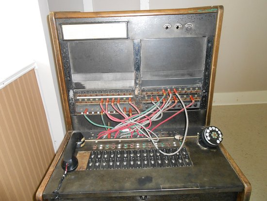 O'Leary, Canada: The antique switchboard!